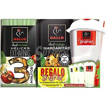 Gallo Hélices con vegetales extrafinas + margaritas con vegetales  paquete 900 g