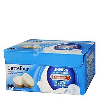 Carrefour Detergente lavadora pastilla 16 lavados