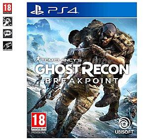 Ubisoft Videojuego Tom Clancy's Ghost Recon Brakpoint para Playstation 4. Género: acción, shooter, bélico. pegi: +18