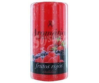 Aromático Vela cilíndrica perfumada con olor a frutos rojos 1 Unidad