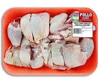 Bandeja de pollo completo troceado pollo Peso barqueta 700 Gramos Aproximados