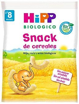 HiPP Biológico Snack de cereales con mijo maíz y arroz biológicos Bolsa de 24 g