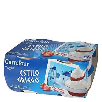 Carrefour Yogur griego bicapa Pack de 4x125 g