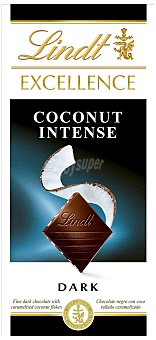 Lindt Excellence Chocolate coconut in 100g 100g