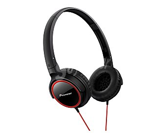 PIONEER SE-MJ512-R Auricular cerrado con cable, color rojo