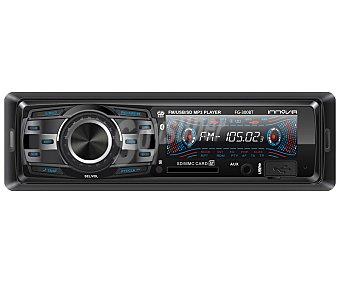 INNOVA FG-300BT Autoradio con lector usb, tarjeta de memoria, conector auxiliar 3,5(mm), conexión Bluethooth y potencia de 4x50W