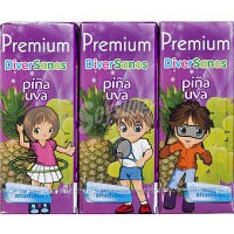 Zumo de piña-uva premium Pack 6x20 cl