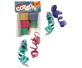 COTILLÓN de serpentina de papel de diferentes y brillantes colores ) Bolsa con 6 rollos