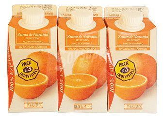 Hacendado Zumo naranja refrigerado 3 x 330 cc