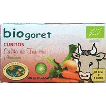 Biogoret Caldo de carne con verduras ecológico en cubitos Estuche 66 g
