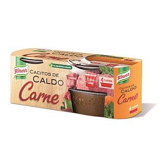 KNORR Caldo de carne en cacitos pack 4 x 28 gr