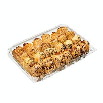 Pastisart Napolitanas mini saladas surtidas horno (atún, queso, sobrasada y pate) Bandeja 24 u