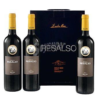 """Finca Resalso Estuche de vino D.O. """"ribera del Duero"""" tinto Pack 3x75 cl"""