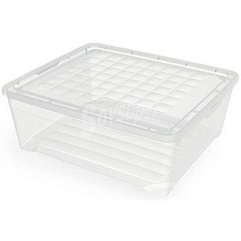 UNIT Textil line caja de plastico transparente con tapa de 33 l 33 l