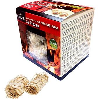 CARCOA Encendedores de lana de leña caja 32 unidades Caja 32 unidades