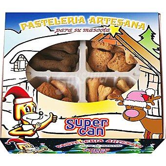 SUPERCAN Pasteleria artesena para perros surtido nadeño de cuatro variedades de galletas
