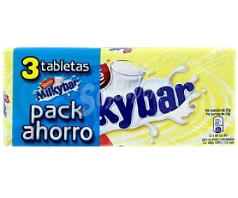 MILKYBA Chocolate blanco Pack 3x75 g