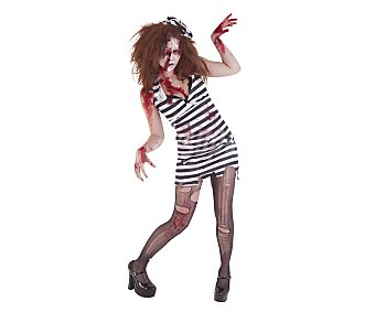 HAUNTED HOUSE Disfraz adulto Prisionera zombie, talla única Prisionera Zombie