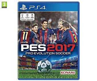 SIMULACIÓN Pro Evolution Soccer 2017 para Ps4. Género: deportes, fútbol, . pegi: +3