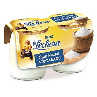 La Lechera Nestlé Yogur natural azucarado tarro cristal Pack 2x125 g