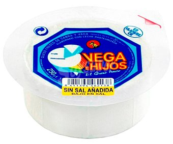 Vega e Hijos Queso fresco sin sal Tarrina de 250 g