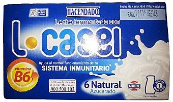 HACENDADO YOGUR LIQUIDO L CASEI NATURAL (AZUCARADO) BOTELLIN PACK 6 x 100 g - 600 g