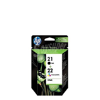 HP Pack Cartuchos de Tinta HP 21/22 - Negro Pack Cartuchos de Tinta 21/22