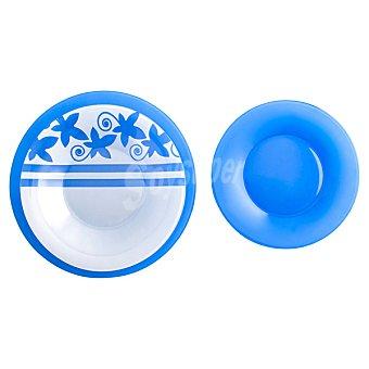 LUMINARC Seasons Vajilla de vidrio 18 piezas para 6 servicios en color azul
