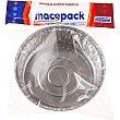 Molde de aluminio redondo para pollo envase 3 unidades Macopack