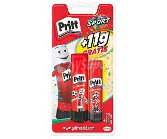 Pritt Lote de 2 barras adhesivas, 1 de y otra de 11 g pritt 22 g