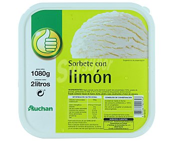 Productos Económicos Alcampo Tarrina de helado de sorbete de limón 2 l