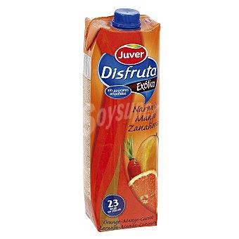 Juver Néctar sin azúcares añadidos naranja y zanahoria Brik 1 l