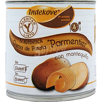 INDEKOVE crema de patata Parmentier con mantequilla bote 400 g
