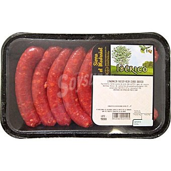 SIERRA EL MADROÑAL salchicha / longaniza ibérica roja fresca bandeja 350 g