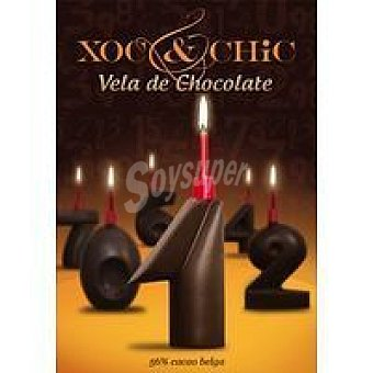 Xoc & Chic Vela de chocolate Nº 1 Pack 1 unid