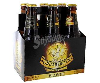 Grimbergen Cerveza tipo abadía belga Pack de 6 botellas de 33 centilitros