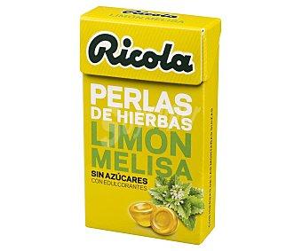 Ricola Perlas de hierbas, sin azúcar y con edulcorantes y sabor limón y melissa 25 g