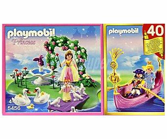 PLAYMOBIL Playset Princess, Set Aniversario Compact Isla de la Princesa+Góndola Romántica, Modelo 5456 1 Unidad