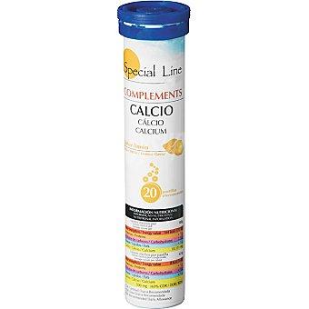 Special Line calcio efervescente sabor limón  envase 20 unidades