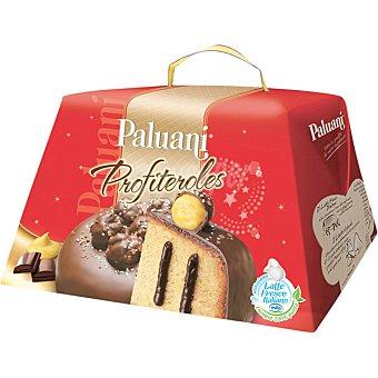 Panettone con profiteroles relleno de crema de chocolate envase 00750 G