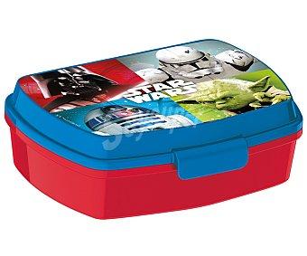 Star Wars Recipiente rectangular con diseño Star Wars, 16x11x5,5 centímetros 1 unidad