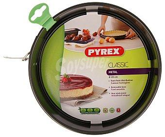 Pyrex Molde metálico de metal con fondo desmontable y antiadherente, 20 cm de diámetro 1 unidad