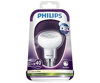 Philips Foco led reflector 4.5 Watios, con casquillo E14 (fino) y luz cálida 1 unidad