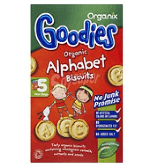 Organix Galleta alfabeto Pack de 5x25 g