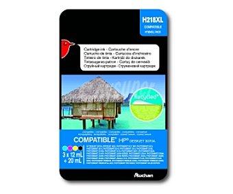Auchan Pack de 4 cartuchos de tinta compatibles Pack de 4