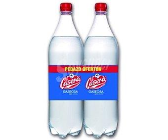 LA CASERA Gaseosa Pack 2 Botellas de 1 Litro