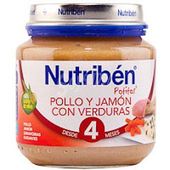Nutribén Potito de pollo-jamón-verdura 130 g
