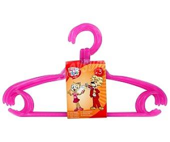 Rik&Rok Auchan Perchas de plástico infantil 3 Unidades