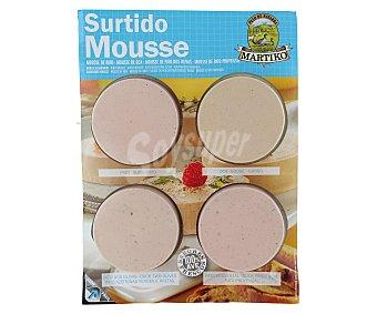 Martiko Surtido mousse (pato, oca, pato dos olivas, pato provenzal) 4x 75 Gramos