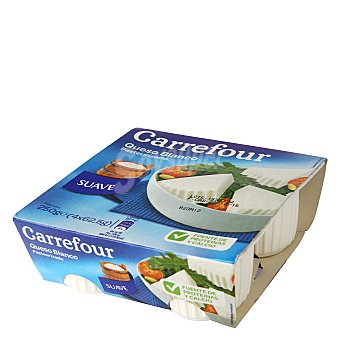 Carrefour Queso blanco pasteurizado natural Pack de 4x62,5 g